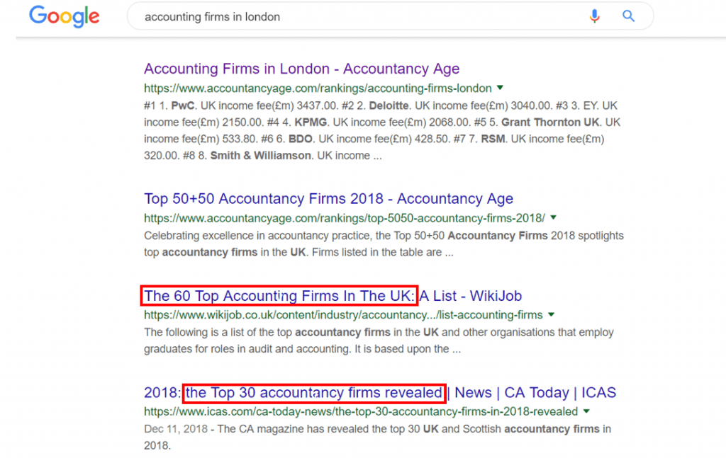 17 Google SERP Accounting Firm London 1024x647 2