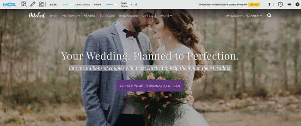 18. SEO Wedding Business Domain Authority Based on Moz 1