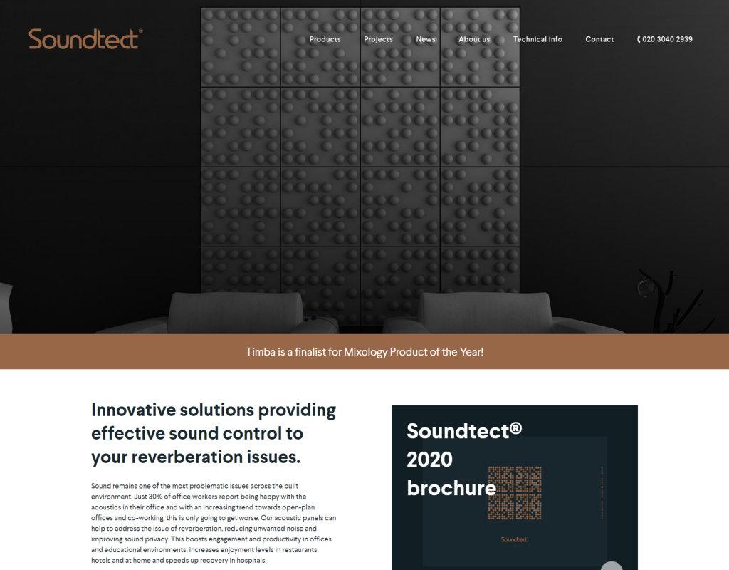Web Design Portfolio Desktop View Soundtect
